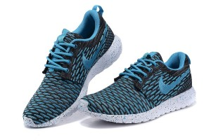 Nike Roshe One Flyknit Nere/Scuro Blue Scarpe