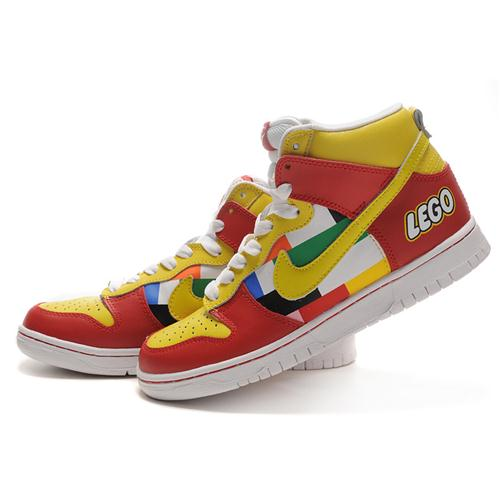 Cheap Nike Dunk High SB Red/Yellow/White